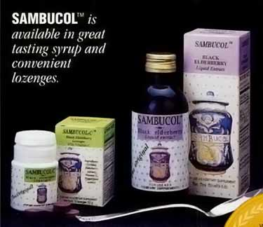 1996 ad for original Sambucol formula