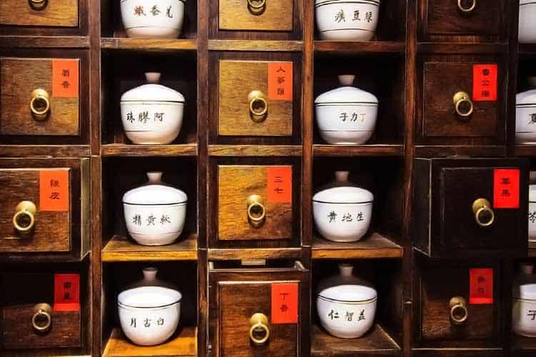 Traditional Chinese Medicine cabinet