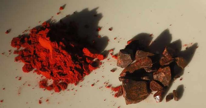 dye and incense made from crushed dragon's blood powder