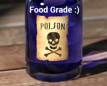 food grade bottle that's also poisonous
