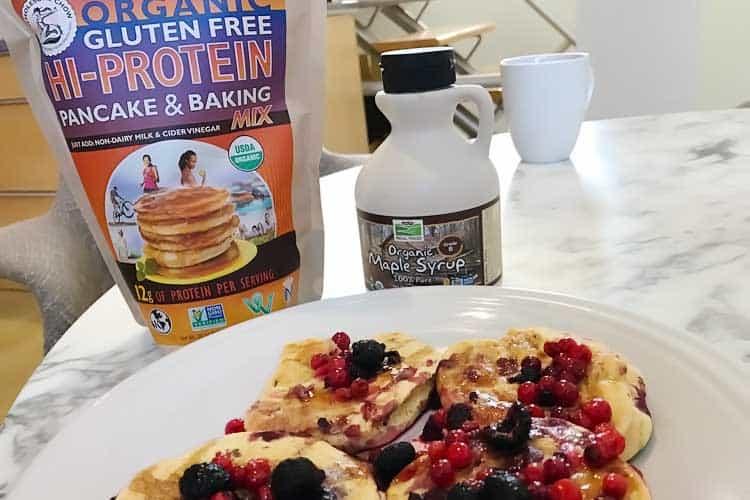 gluten free and vegan pancakes