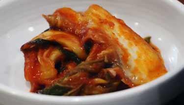 dish of kimchi