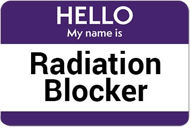 pegatina de bloqueo de radiación