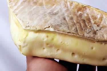 block of brie cheese