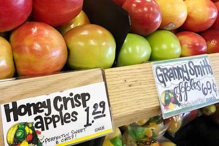 high price of Honeycrisp for $1.29 each at Trader Joe's