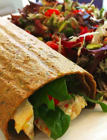 gluten free raw vegan wrap