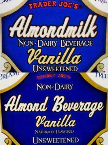 Trader's Joes almond milk