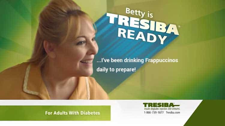 Betty Tresiba ready commercial Frappuccino parody