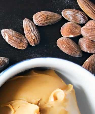 dish of fresh almond butter