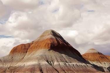 mountain with bentonite