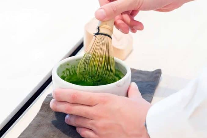 what matcha should look like after whisking