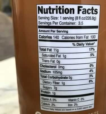 Malk nutrition facts