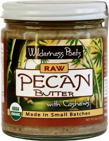 jar of Wilderness Poets cashew butter with pecans