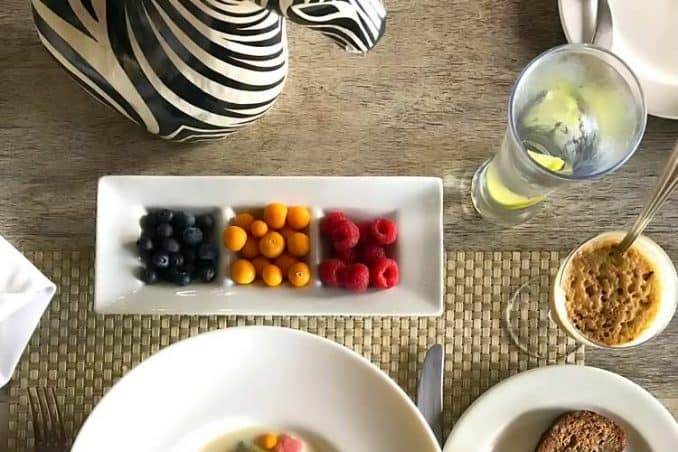 South African breakfast with fresh Cape gooseberries