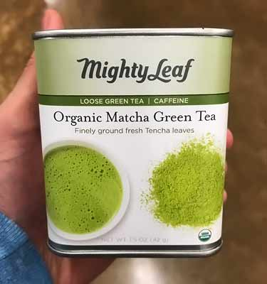 Mighty Leaf organic matcha tin