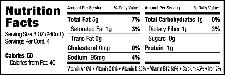 Milkadamia nutrition facts