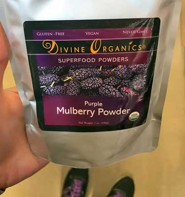purple mulberry powder