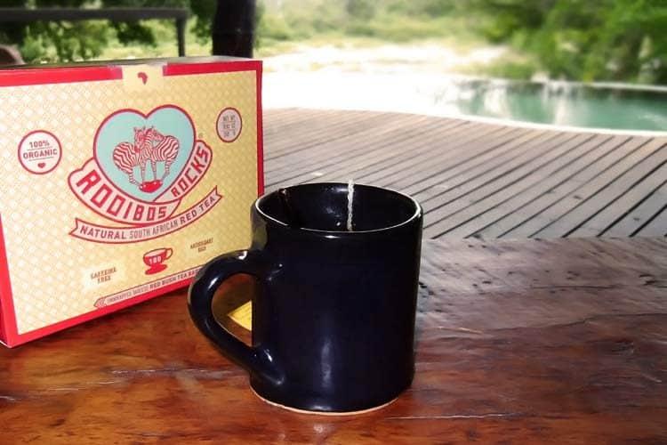 red tea in mug