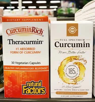 solgar full spectrum curcumin 185x vs. CurcuminRich Theracurmin