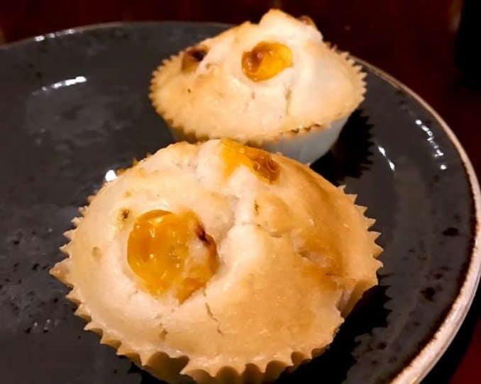 vegan gluten free muffins made with golden berries