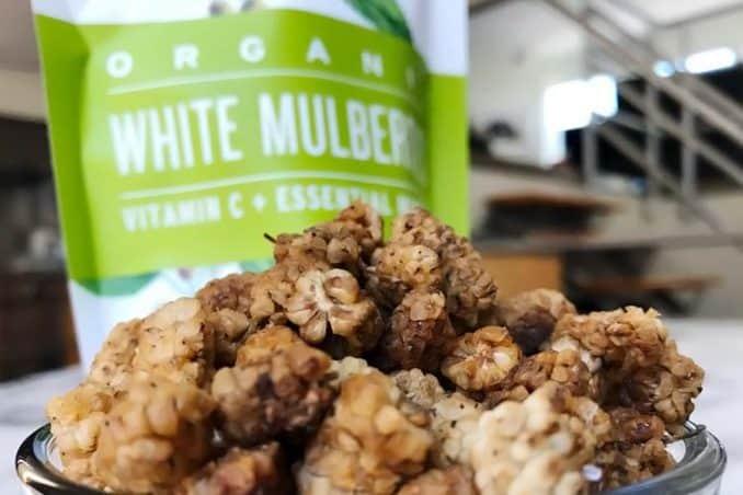 dried organic white mulberries