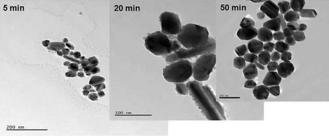 silver nanoparticles under microscope