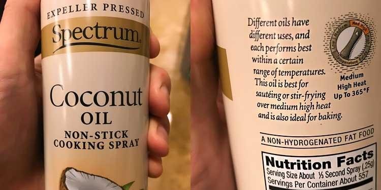 fractionated coconut oil spray