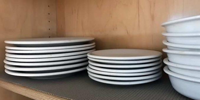 white Fiesta dinnerware