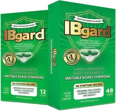 IBgard peppermint capsules
