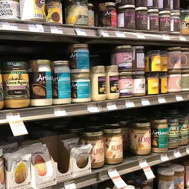 different nut butters for sale at grocery store