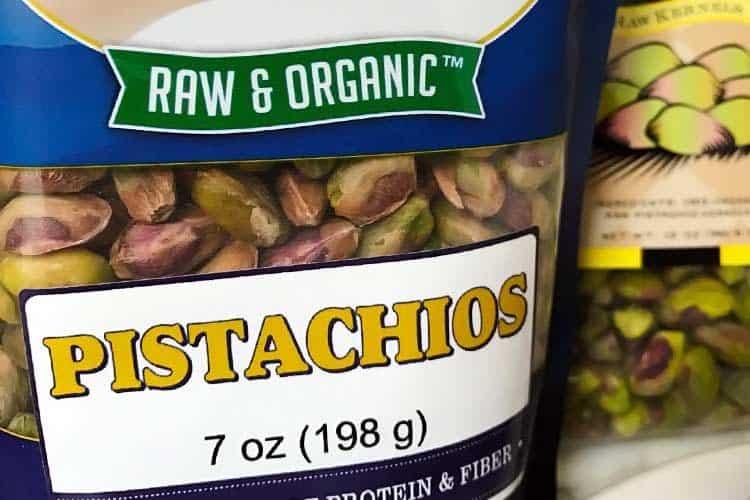 raw pistachio kernels