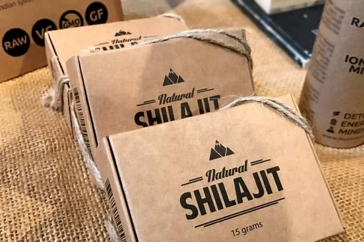 boxes of natural shilajit resin