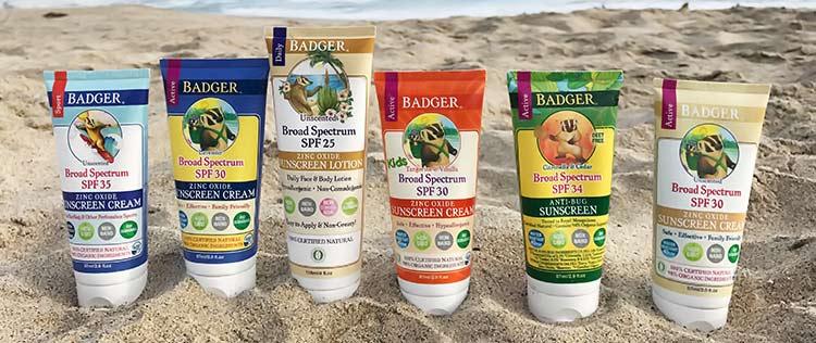 Badger UV-blocking products
