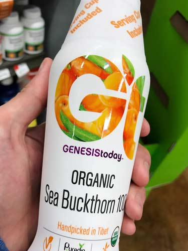 sea buckthorn juice for sale at Whole Foods