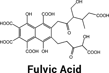 fulvic acid molecule chemical structure