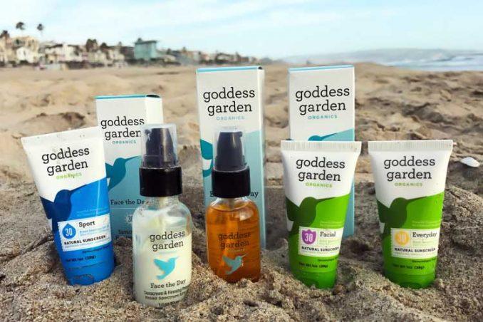 Goddess Garden product line of organic sunscreens for face