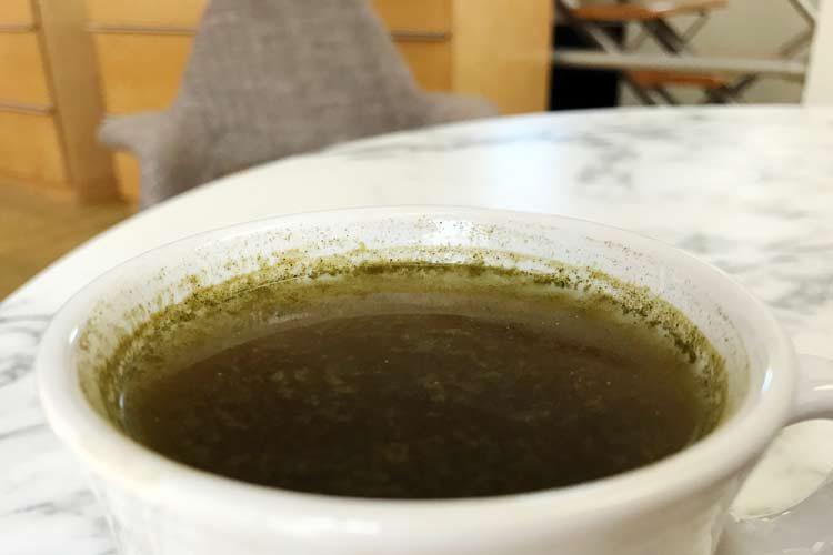 cup of organic thyme tea