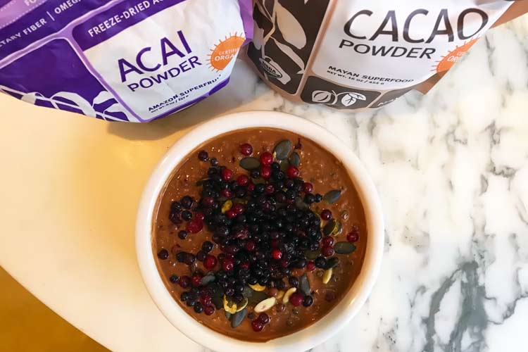 chocolate acai oatmeal recipe