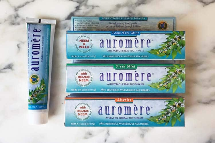 Auromere toothpaste flavors