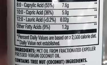 Whole Foods 365 brand oil ingredients label