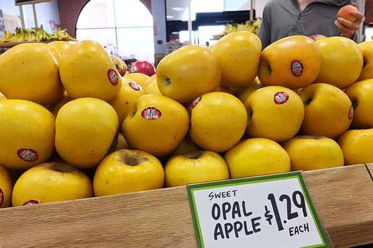 Opal apples at Trader Joe's store