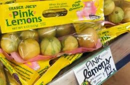 pink lemons at Trader Joe's