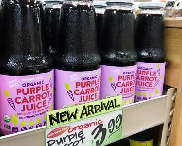 Trader Joe's organic purple carrot juice
