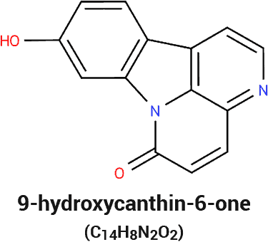 chemical structure and molecular formula of 9-Hydroxycanthin-6-one