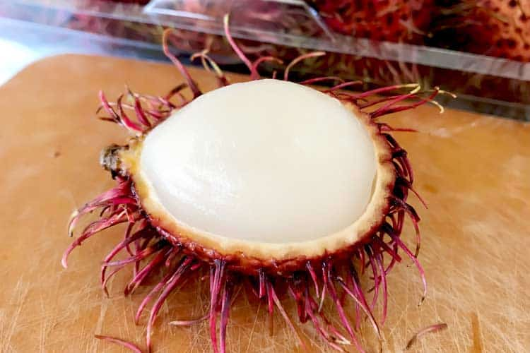 what a rambutan looks like inside