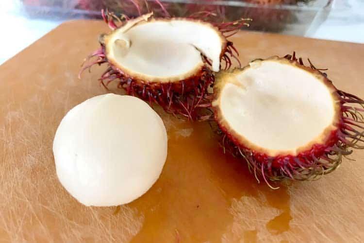 what a peel rambutan looks like