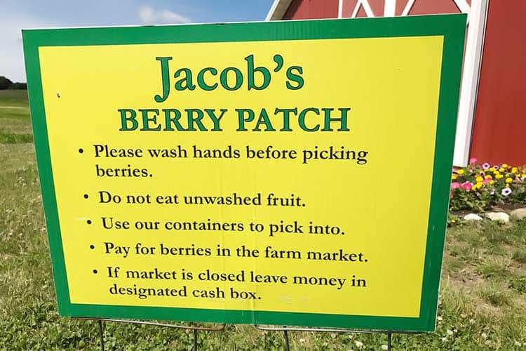 you pick farm instructions