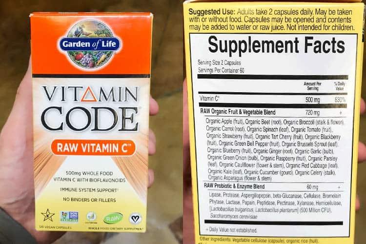 Garden of Life Vitamin Code raw vitamin C capsules