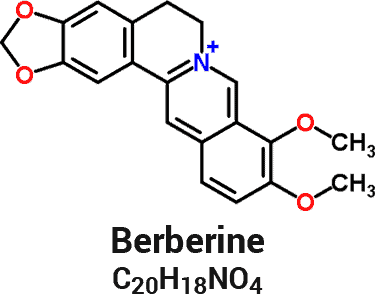 berberine molecule chemical formula and structure