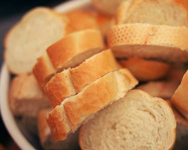 bowl of fresh bread